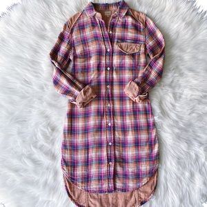 Aritzia l Wilfred Free Plaid Flannel Shirtdress